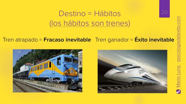 Camino del éxito (los hábitos son trenes) - Mario Luna (Psicología del Éxito)